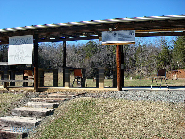 Hickory Mountain Rifle and Pistol Club shooting range, where Mike Acosta tests guns.