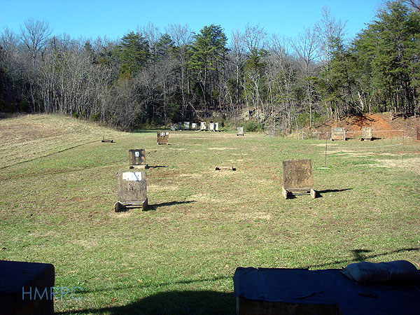 Targets at the Hickory Mountain Rifle and Pistol Club shooting range.